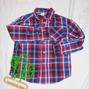 4/$20  FADED GLORY  Plaid Button-Up Size Small
